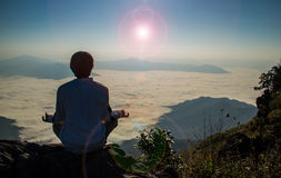 Meditation in nature Royalty Free Stock Images