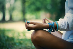 Meditation in nature Stock Photos