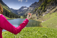 Meditation in nature Stock Image