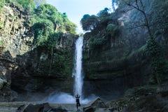 Meditation near Waterfall stock photos