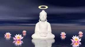 Meditation by night Royalty Free Stock Images