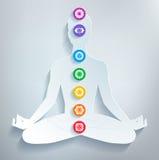 Meditation och chakras Arkivbild