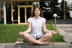 Free Meditation Of Businesswoman Royalty Free Stock Photos - 14436838