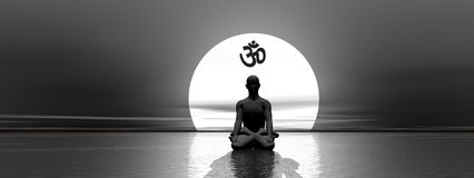 Meditation and om Stock Image