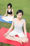 Meditation in park Stock Photography