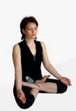 Meditation with a parro Royalty Free Stock Photos