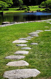 Meditation Path. Made from stone in a Japanese garden Stock Photo