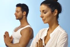 Meditation in peace Stock Photography