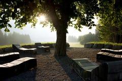 Meditation Place. Taken in Austria, Weissensee Stock Photo