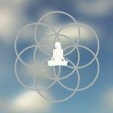 Meditation pose design Stock Images