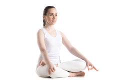 Meditation pose Stock Image