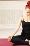Meditation pose Stock Images