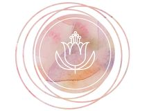 Circular watercolor mandala meditation Symbol lotus. Meditation prayer lotus watercolor mandala Om Royalty Free Stock Image