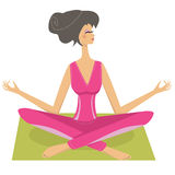 Meditation pretty girl Stock Photo
