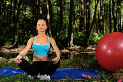 Meditation and relaxation Stock Image
