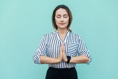 Meditation, religion and spiritual practises. Beautiful business Royalty Free Stock Images