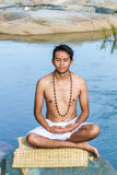 Meditation by the river Royalty Free Stock Photography