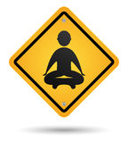 Meditation road sign Stock Photos