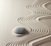 meditation rock Japanese zen garden Stock Photos