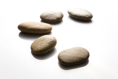 Meditation Rock on White background Stock Photos
