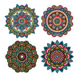 Meditation round ornaments Stock Image