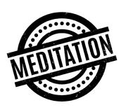 Meditation rubber stamp. Grunge design with dust scratches. Effects can be easily removed for a clean, crisp look. Color is easily changed Royalty Free Stock Photo