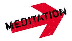 Meditation rubber stamp royalty free illustration