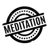 Meditation rubber stamp Stock Photography