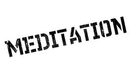 Meditation rubber stamp Royalty Free Stock Photo