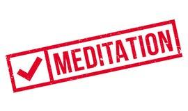 Meditation rubber stamp Stock Image