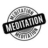 Meditation rubber stamp Stock Photo