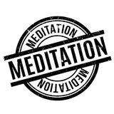 Meditation rubber stamp Royalty Free Stock Images