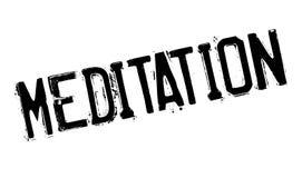 Meditation rubber stamp Stock Images