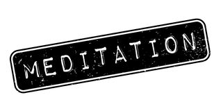 Meditation rubber stamp. Grunge design with dust scratches. Effects can be easily removed for a clean, crisp look. Color is easily changed Stock Photo