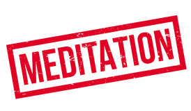 Meditation rubber stamp. Grunge design with dust scratches. Effects can be easily removed for a clean, crisp look. Color is easily changed Royalty Free Stock Image
