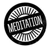 Meditation rubber stamp. Grunge design with dust scratches. Effects can be easily removed for a clean, crisp look. Color is easily changed Royalty Free Stock Images