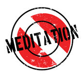 Meditation rubber stamp. Grunge design with dust scratches. Effects can be easily removed for a clean, crisp look. Color is easily changed Stock Photography