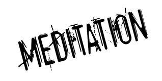 Meditation rubber stamp. Grunge design with dust scratches. Effects can be easily removed for a clean, crisp look. Color is easily changed Stock Images