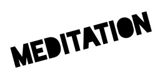 Meditation rubber stamp. Grunge design with dust scratches. Effects can be easily removed for a clean, crisp look. Color is easily changed Stock Image