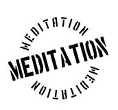 Meditation rubber stamp. Grunge design with dust scratches. Effects can be easily removed for a clean, crisp look. Color is easily changed Royalty Free Stock Photos