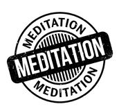 Meditation rubber stamp. Grunge design with dust scratches. Effects can be easily removed for a clean, crisp look. Color is easily changed Royalty Free Stock Photography