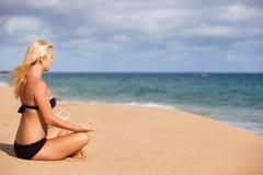 Meditation at the Sea Royalty Free Stock Photo