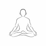 Meditation silhouette Royalty Free Stock Photography