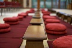Meditation stalls and cushions royalty free stock photos