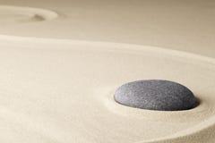 Meditation stone in a Japanese zen garden Royalty Free Stock Photo