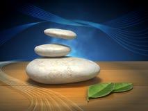Meditation stones Stock Image