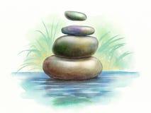 Meditation stones Royalty Free Stock Images