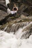Meditation on a stream - short exposure Stock Photos