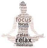 Meditation Text Cloud Design Over White Stock Image