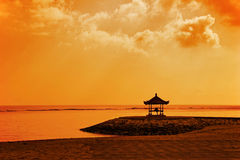 Meditation under sky of Asia. Photo photographed on beach Sanur. Bali island. Indonesia Royalty Free Stock Photos